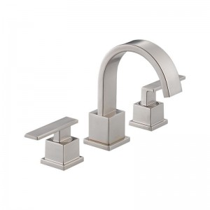 Delta 553LF Vero Single Hole Bathroom Faucet - Includes Metal Pop-Up Drain