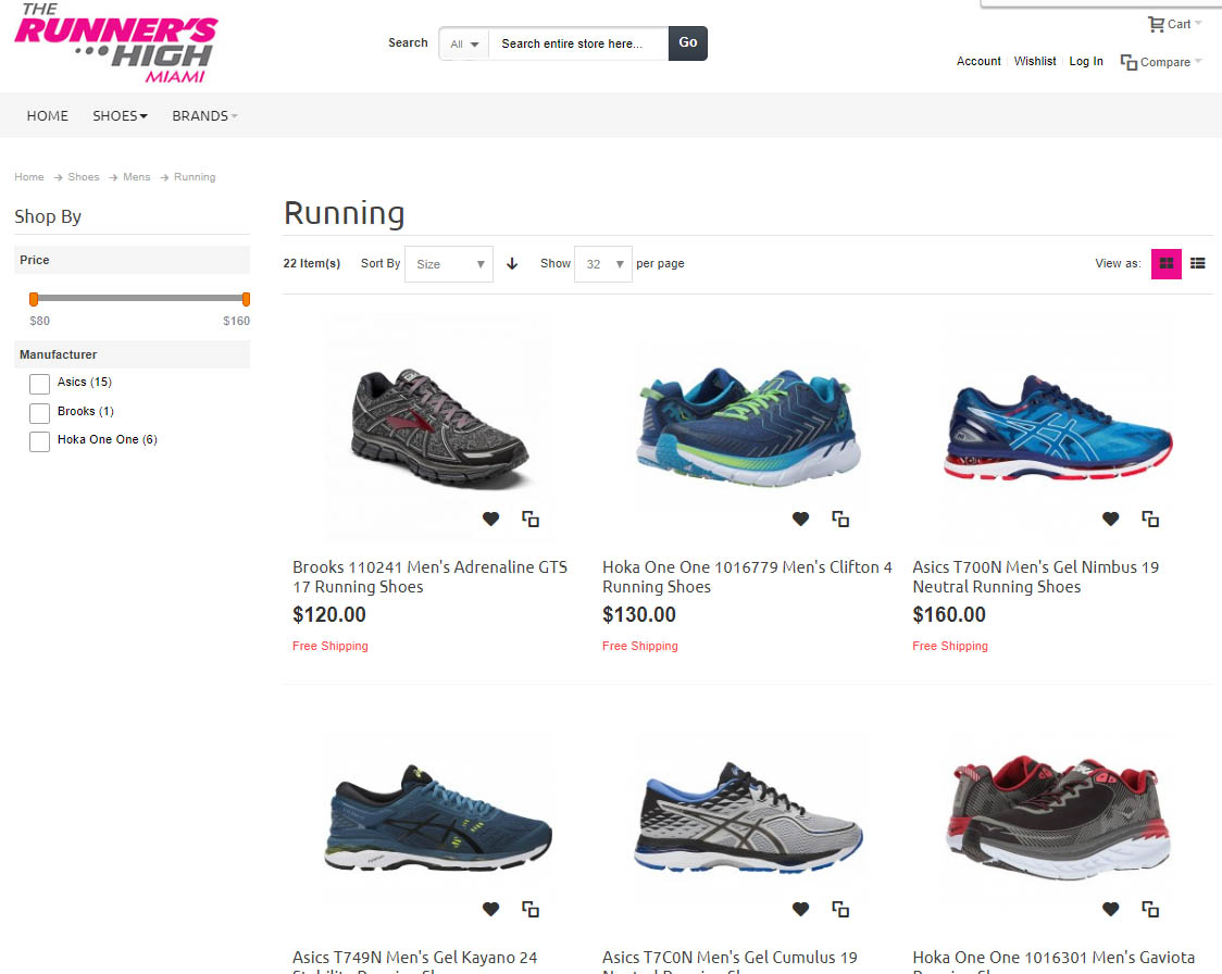 sporting shoes website template